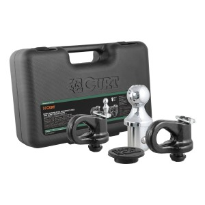 CURT (60609): Factory-Style Gooseneck Ball & Safety Chain Anchor Kit for Ford