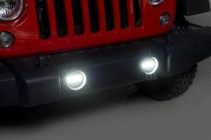 Putco (12001): Jeep Wrangler JK Luminix High-Power LED Fog Lamps