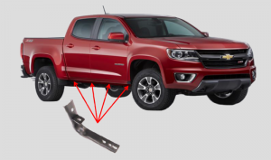Go Rhino (6840355): OE Xtreme Brackets for 2015 Colorado/Canyon Crew Cab