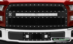 T-REX Grilles (6315731): Torch Main Grille 2015 Ford F-150