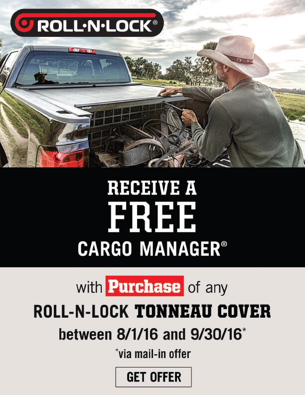 Get a FREE Cargo Manager from Roll-N-Lock