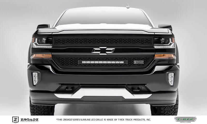 T-Rex Grilles (Z311281): ZROADZ Insert Grille with SR Light Bar for '16-'17 Silverado 1500