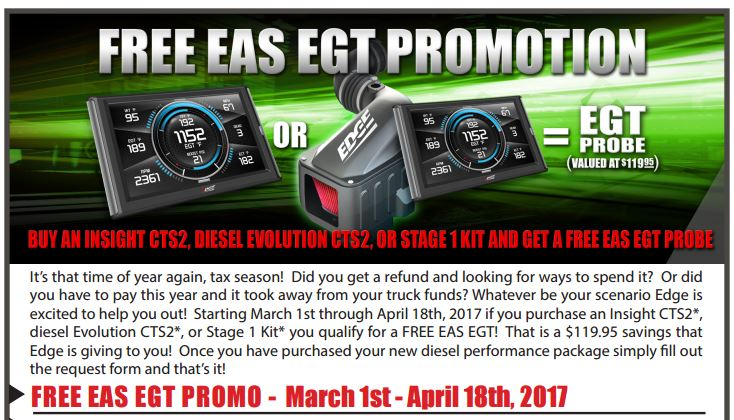Edge Products Free EAS EGT Promotion