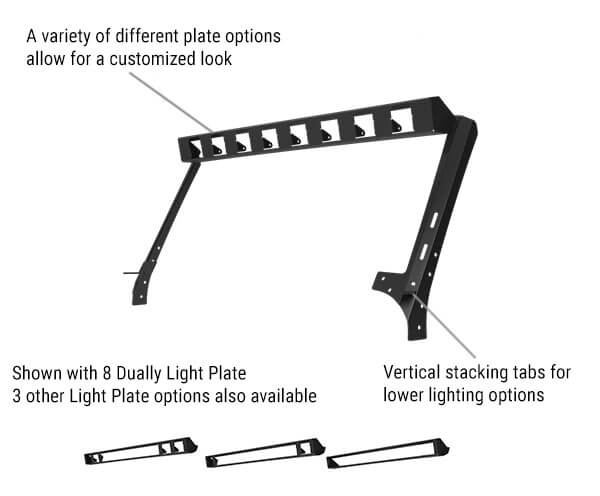 Go Rhino WLF Windshield Light Frame for JK