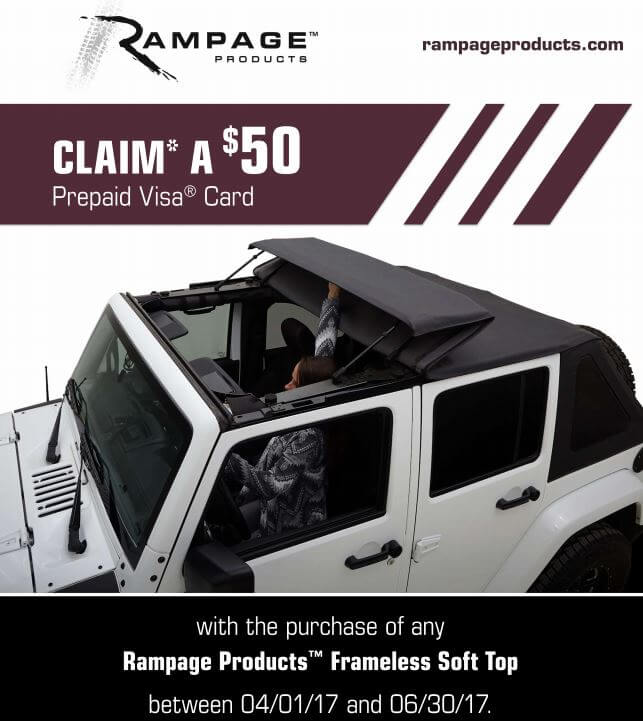 Rampage 50 Prepaid Card Soft Top