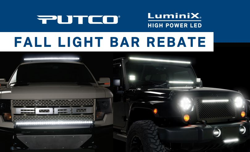Putco fall light bar rebate total truck centers news putco fall light bar rebate aloadofball Gallery