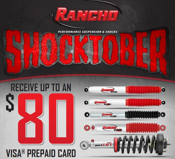 Rancho: Get Up to an $80 Prepaid Card During the Shocktober Event