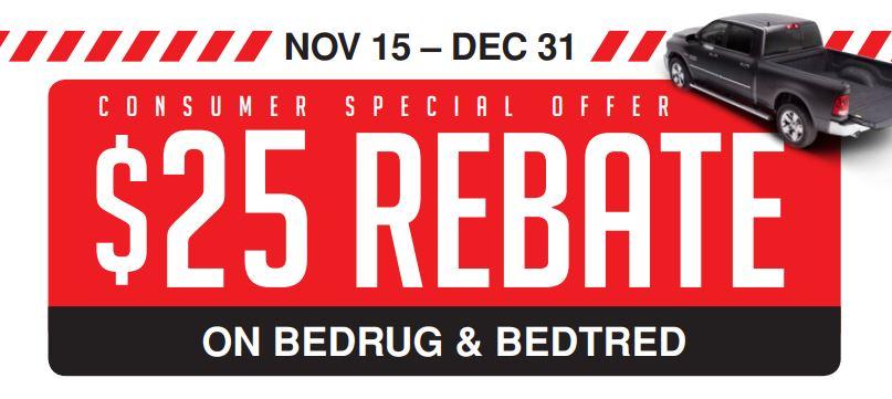 BedRug 25 Dollar Rebate on BedRug and BedTred