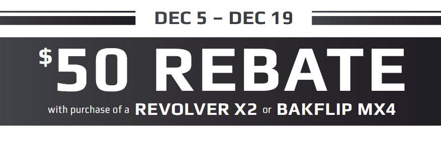 BAK 50 Dollar Rebate on Revolver X2 or BAKFlip MX4