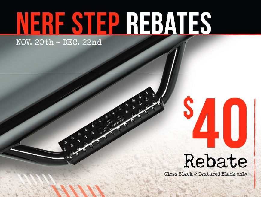 N-FAB: Get a $40 Rebate on Gloss or Textured Black Bumpers