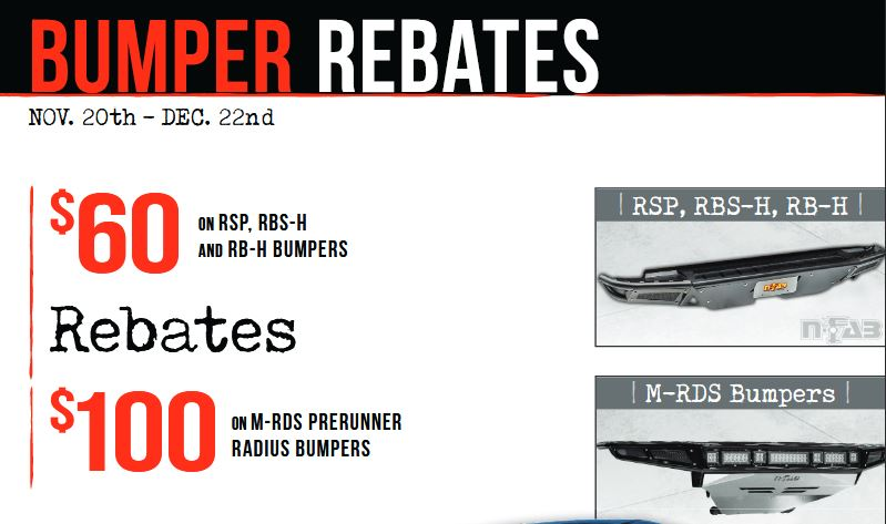 N-FAB: Get Up to a $100 Rebate on Bumpers