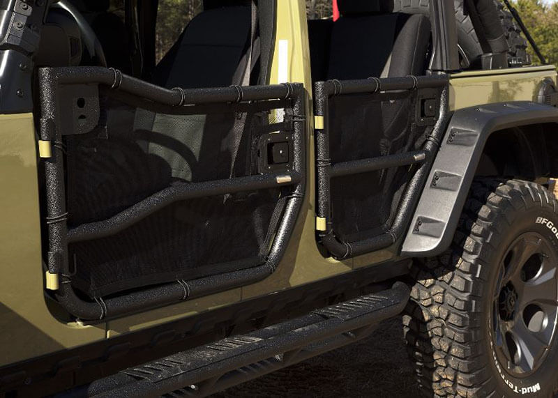 Rugged Ridge (11509.26) Tube Doors with Eclipse Covers for 2007+ Wrangler JKU & Rugged Ridge (11509.26): Tube Doors with Eclipse Covers for 2007+ ...