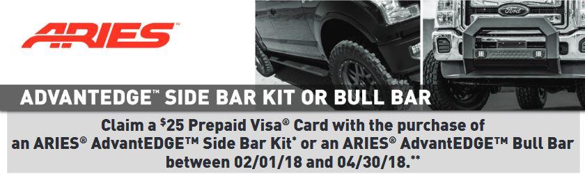 ARIES 25 Card on AdvantEDGE Side Bar or Bull Bar Kits