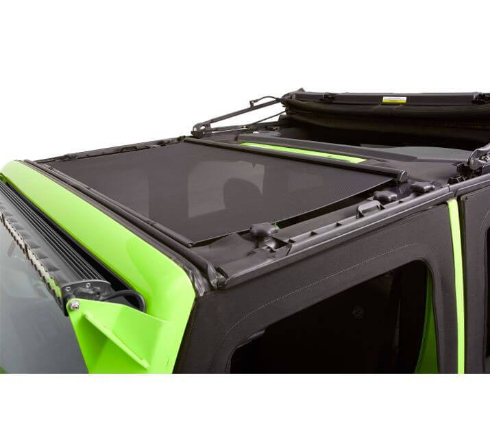 Bestop (5240611): Retractable Sunshade for '17-'18 Jeep Wrangler JK with Sunrider for Hardtop