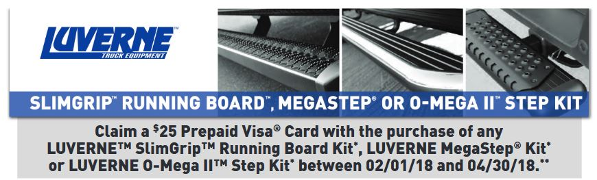 LUVERNE 25 Card on Running Board Kits