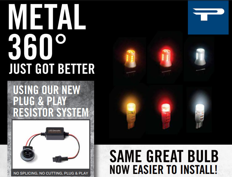Putco Metal 360 LED Bulbs with Plug and Play