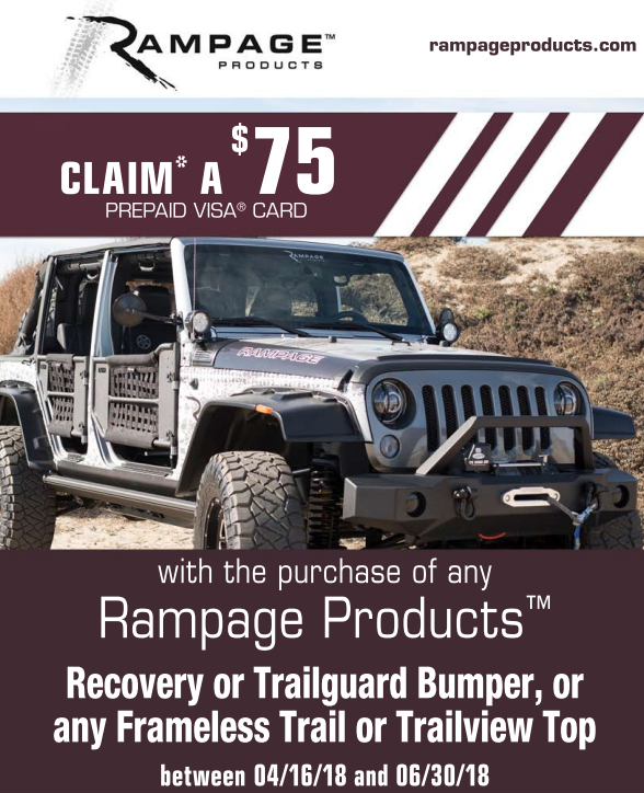 Rampage 75 Card on Bumpers and Tops