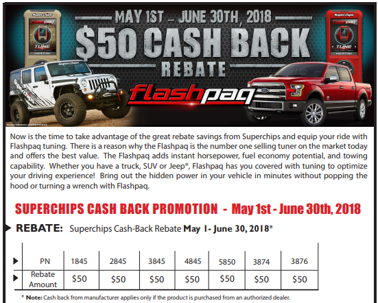 Superchips $50 Back on Flashpaq