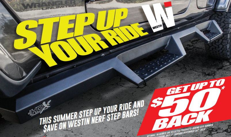 WESTiN Step Up Your Ride Step Bar Promotion