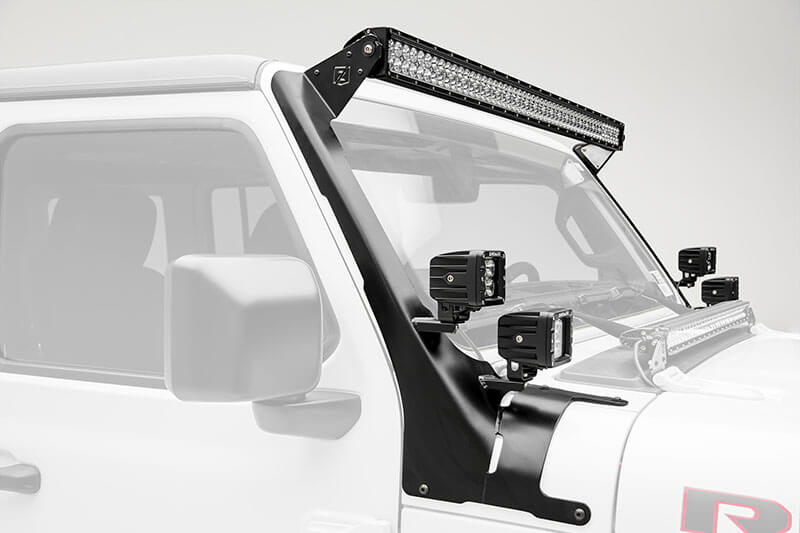 ZROADZ Front Roof LED Mounts for Jeep Wrangler JL