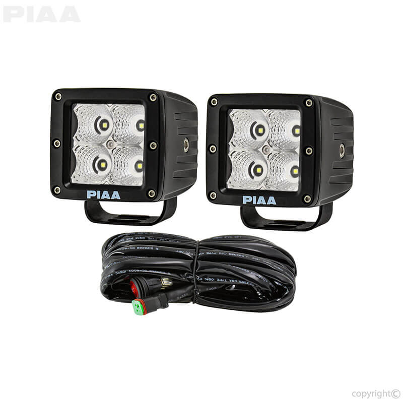 PIAA Quad Series LED Cube Flood Light with Harness 26 06303 piaa wiring harness 55 watt electrical wiring diagram