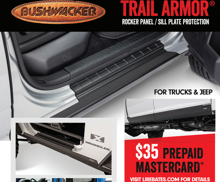 Bushwacker: Get a $35 Prepaid Card on Rocker Panel/Sill Plate Purchase