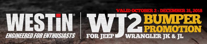 WESTiN WJ2 Bumper Promotion for Jeep Wrangler JK and JL