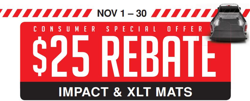 BedRug $25 Back on Impact and XLT Mats