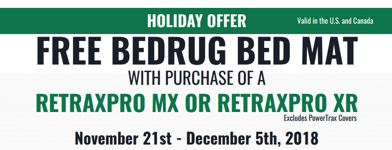 Retrax Free BedRug Mat with RetraxPRO MX or XR Purchase