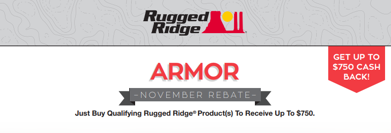 Rugged Ridge Up to $750 Back on Armor Products