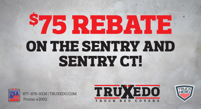 TruXedo $75 Back on Sentry and Sentry CT Covers