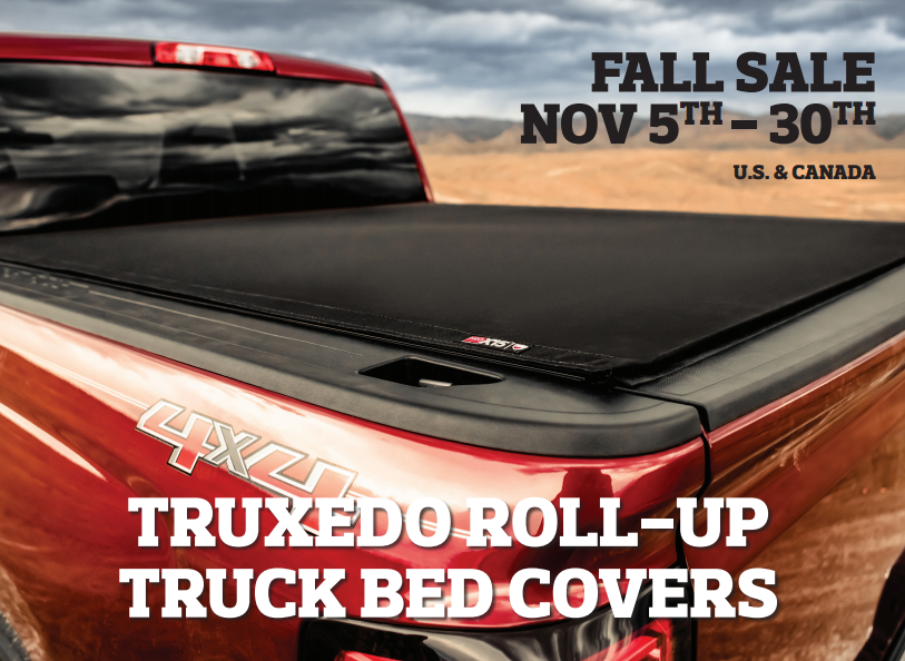 TruXedo Up to $50 Back on Roll-Up Truck Bed Covers