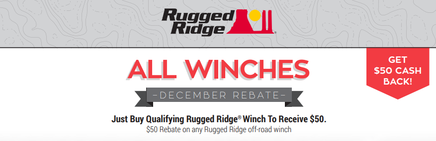 Rugged Ridge $50 Back on Winches