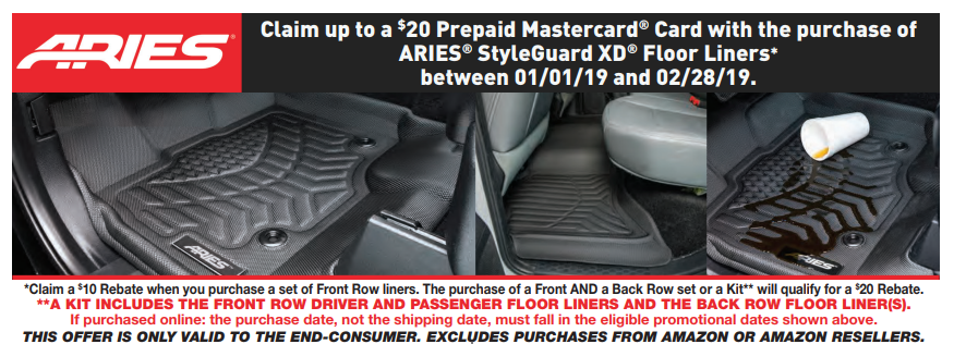 ARIES 20 Card on StyleGuard XD Floor Liners_2019