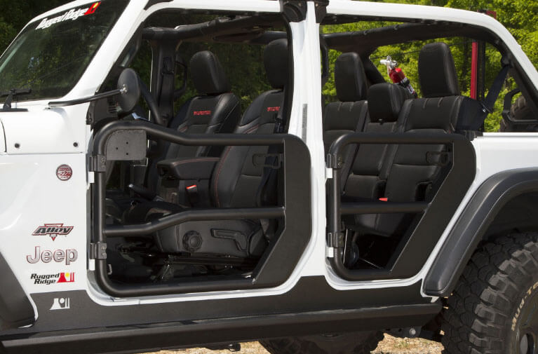 Rugged Ridge Front Tube Doors for Jeep Wrangler JL 11509.13