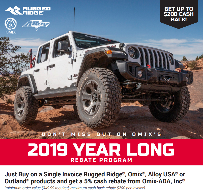 Rugged Ridge Year-Long Rebate 2019