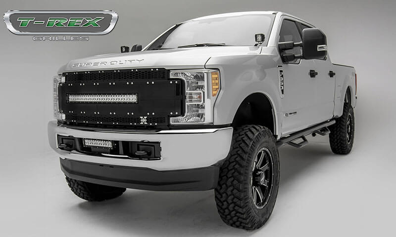 T-Rex Grilles Torch-AL Main Replacement Grille for Ford Super Duty with Camera Provision