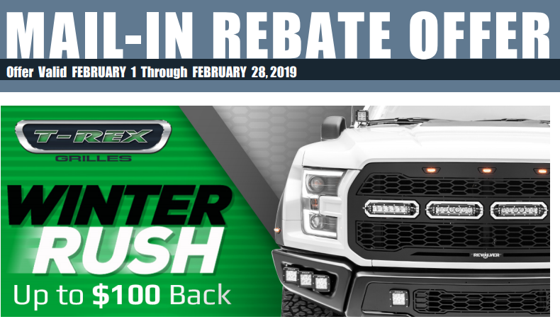 T-Rex Grilles Winter Rush Rebate