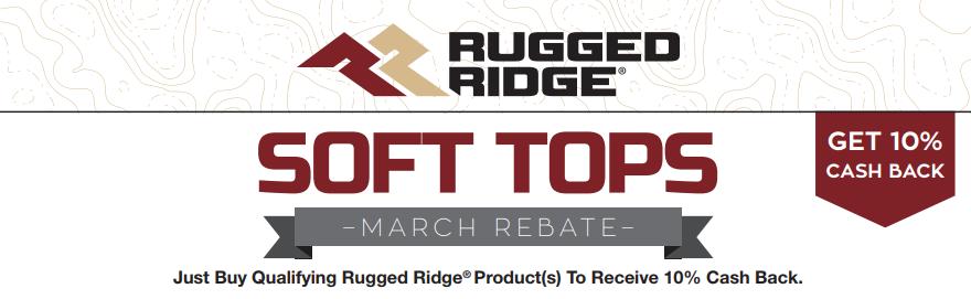 Rugged Ridge Get 10 Percent Back on Soft Tops