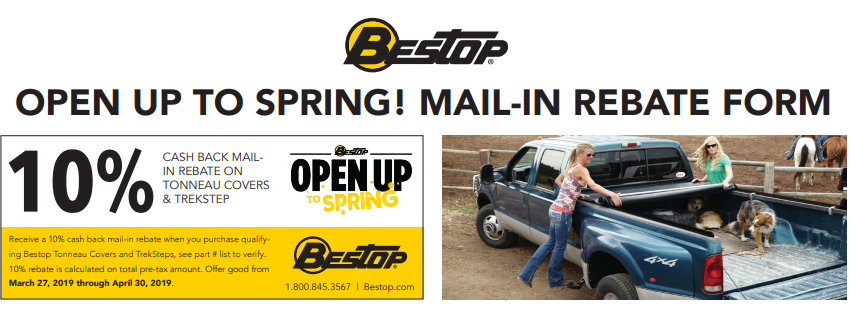 Bestop: Get 10% Back on Qualifying Tonneau Covers and TrekSteps—NOW UNTIL 5/31!