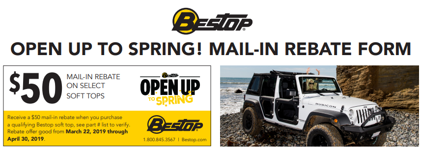 Bestop $50 Back on Qualifying Soft Tops