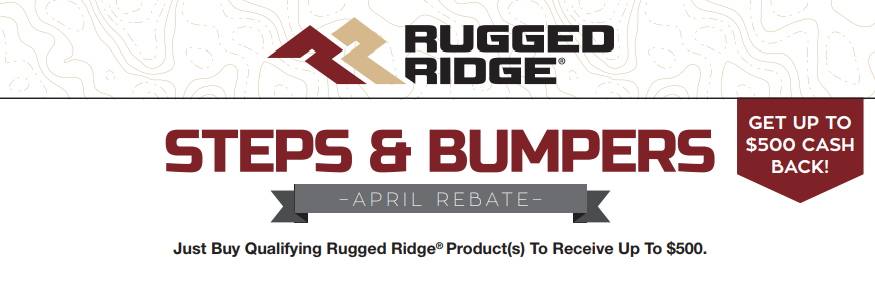 Rugged Ridge $500 Back on Steps and Bumpers
