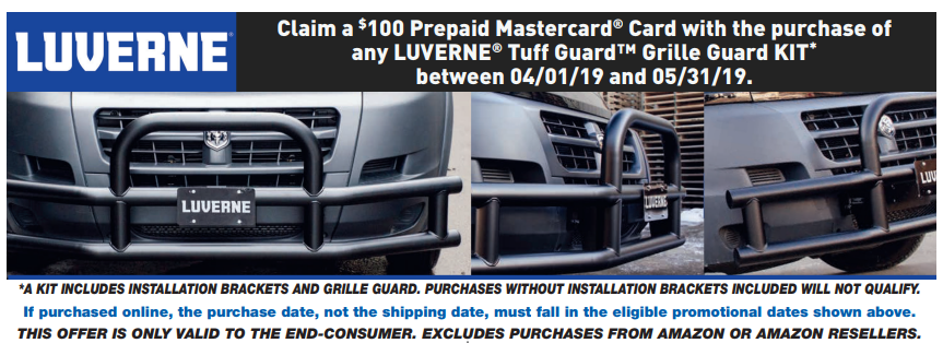 LUVERNE $100 Back on Tuff Guard Grille Guard Kits