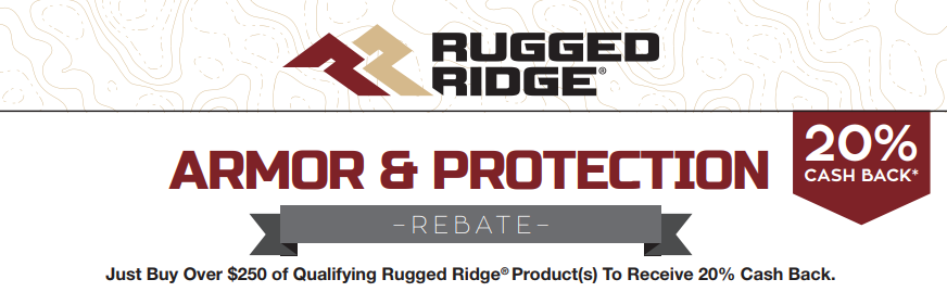 Rugged Ridge: Get 20% Cash Back on Qualifying Armor and Protection Purchases