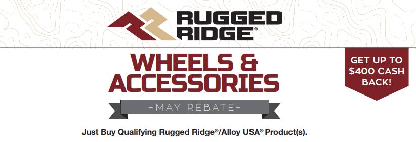 Rugged Ridge: Get up to $400 Back on Qualifying Wheel and Accessory Purchases