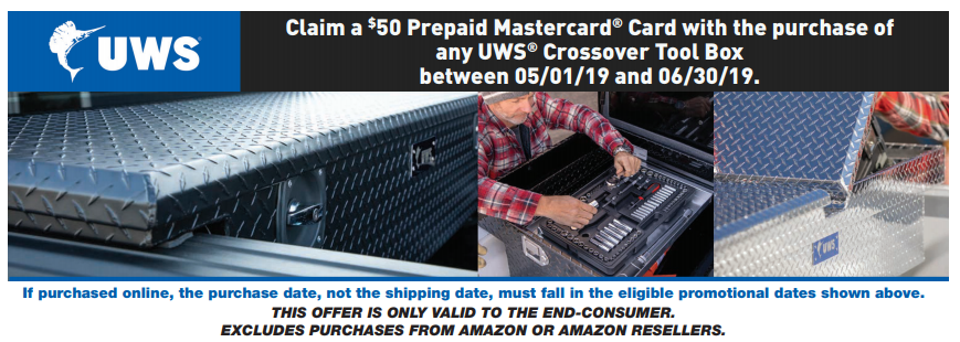 UWS $50 Back on Crossover Toolboxes