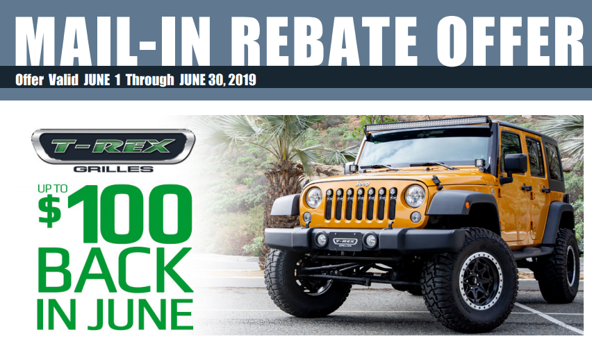 T-Rex Grilles: Get up to $100 Back on Qualifying Purchases