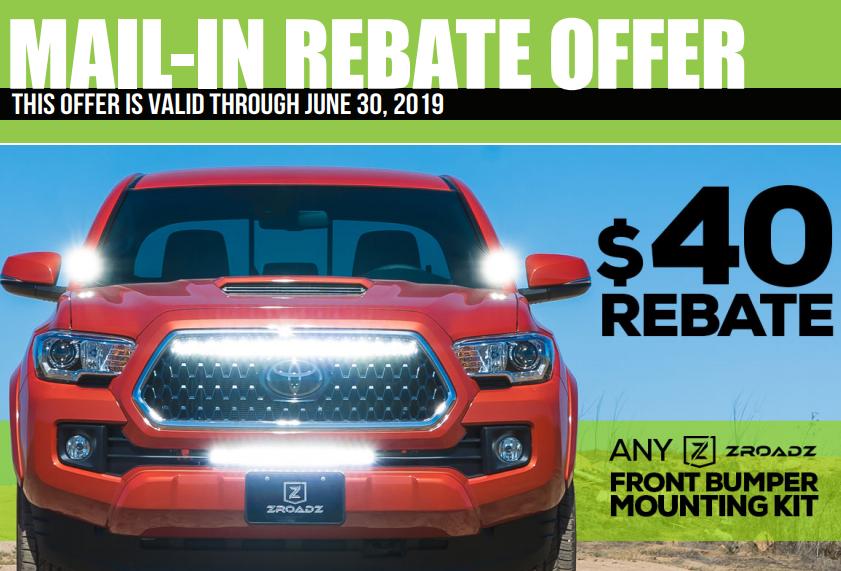 ZROADZ: Get $40 Back on Front Bumper Mounting Kits